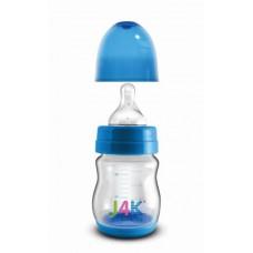 Szélesszájú cumisüveg 160ml - kék
